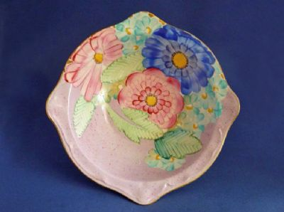 Lovely Gray's Pottery Art Deco Pink Floral Dish c1934